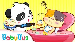 Baby Kitten Doesn't Like Vegetables | Kids Good Habits | BabyBus Cartoon