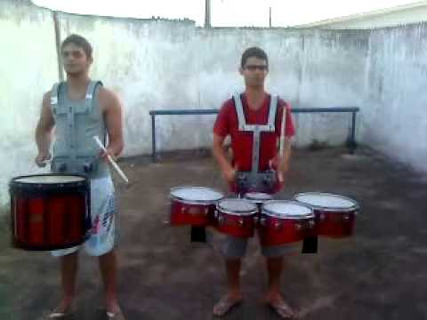 Latino Justice Snare Drum (Raony) and Tenor Drum (Max)