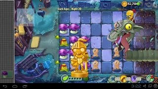 Plants vs Zombies 2 - Dark Ages Night 20 Zomboss Dark Dragon Plants vs Zombies 2 Dark Ages Part 2