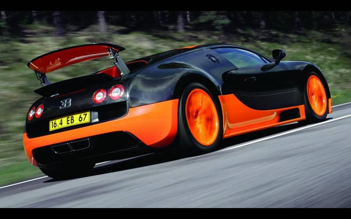 Bugatti veyron black and orange
