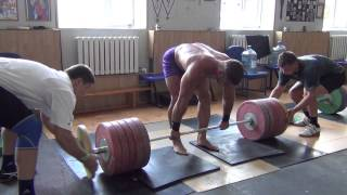 Klokov Dmitry - SUPER SET -  300, 270, 220, 170, 120 kg  (10.07.2013)