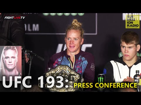 UFC 193: Post Fight Press Conference
