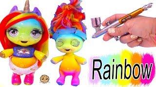 Rainbow Baby Unicorn Surprise ! Air Brush Pony DIY Craft Video