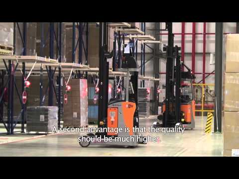 Automated Guided Vehicle system (AGV) at Miko Pac by Egemin Automation (ENGLISH)
