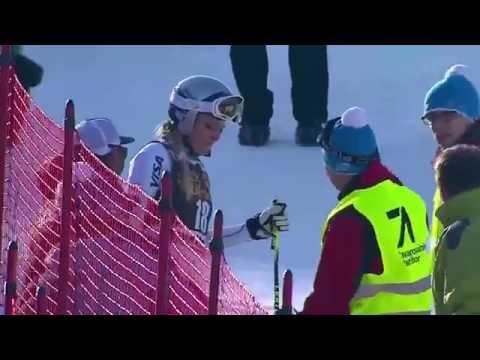 Lindsey Vonn crash  in Maribor