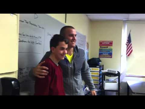 Mike Trout visits 8th grade!