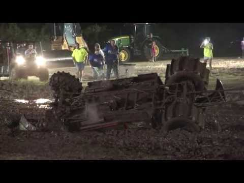 Mud Drag Roll Over Crash - Mud Down in T-Town