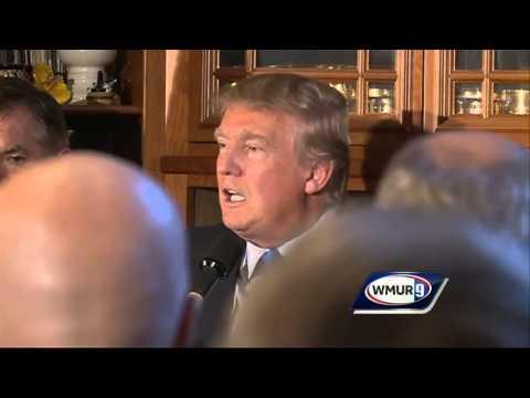 Donald Trump speaks at Amherst reception