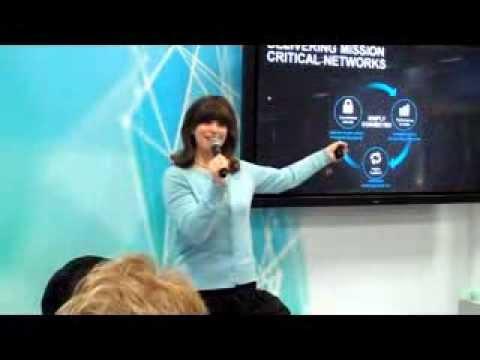 Juniper Networks Presentation at INTEROP (Emilie Barta, Trade Show Presenter/Corporate Spokesperson)