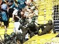 Hooligans Santiago Wanderers fans fight with police 09 02 2014 -