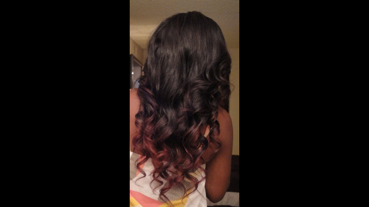 How I Color Red Tips And Layer My 3 4 Wig D Youtube