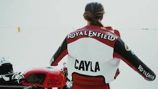Royal Enfield at Bonneville Salt flats