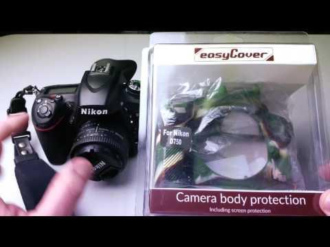 EasyCover Silicone Protection Cover for Nikon D750 Camera, Camo