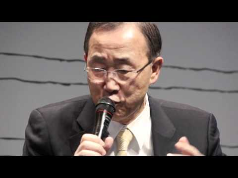 Ban Ki moon at ICLEI's Global Town Hall during Rio+20