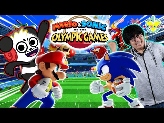 Ryan39s Daddy Vs Combo Panda in Mario Vs Sonic Tokyo Olympic Games Let39s Play