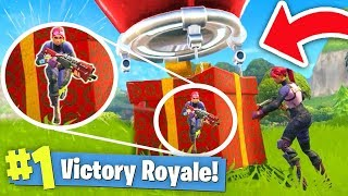 WINNING by HIDING in a SUPPLY DROP! (Fortnite Battle Royale)