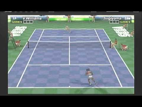Venus Williams vs Ai Sugiyama Sega Sports Tennis Tokyo Skyscraper Match video game simulation