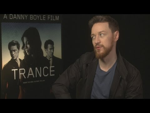 James McAvoy on working with director Danny Boyle in Trance