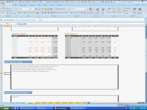Manage Project Resources and Profits - Account Planner
