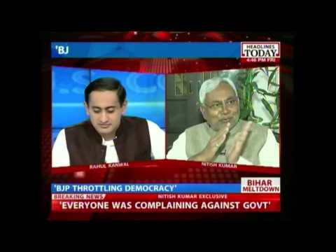 Exclusive Interview with Nitish Kumar on political crisis in Bihar