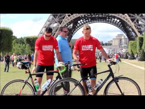 Arriving at the Eiffel Tower - London to Paris Cycle