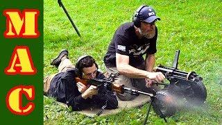 Gatling vs. AK47, M16, RPD, Uzi! Which fires faster?