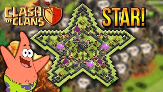 """INSANE STAR BASE!"" - Town Hall 8 DEFENSE BASE (CoC TH8) BEST Base Layout 2015"