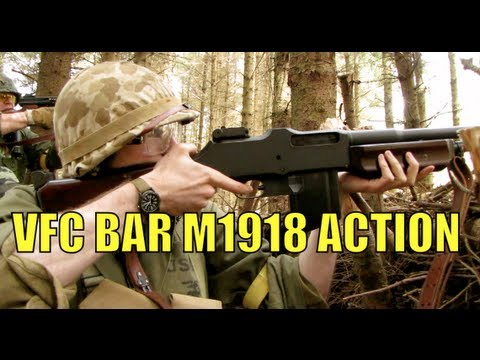 Airsoft War VFC BAR M1918. M14 Socom. M1A1 Scotland HD