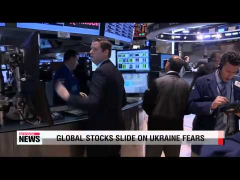 Global stocks slide on Ukraine fears