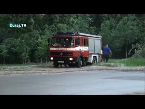 Incendiu în parcul de la Buiucani