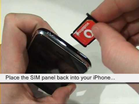 Putting a sim card into your iPhone