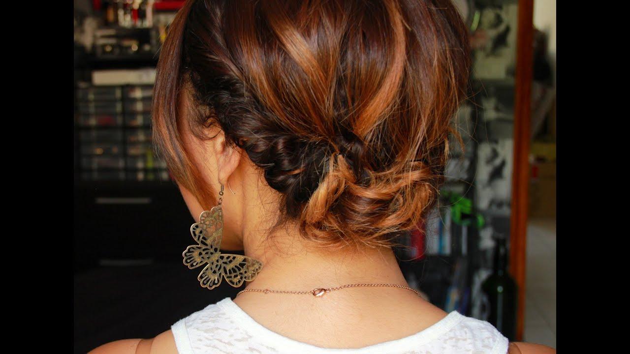 Tuto coiffure #1 : Un chignon bohème simple et rapide avec le headband ! - YouTube