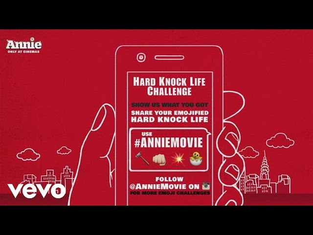 Annie Movie – Emoji 'It's The Hard Knock Life'