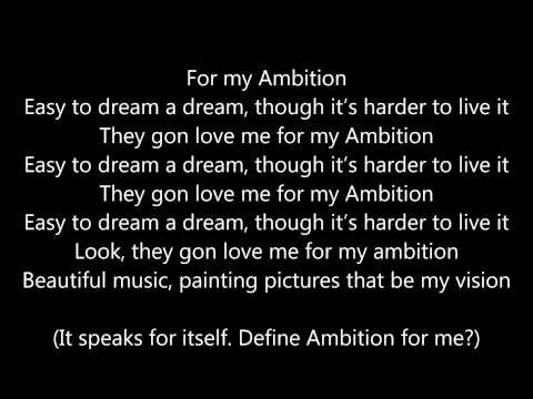 Wale ambition lyrics ft Meek Mill and Rick Ross ( Lyrics Video)