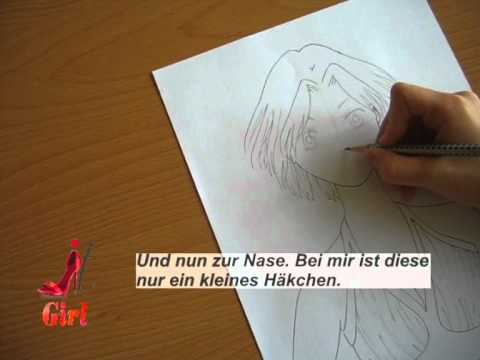tutorial wie zeichnet man ein manga gesicht youtube. Black Bedroom Furniture Sets. Home Design Ideas