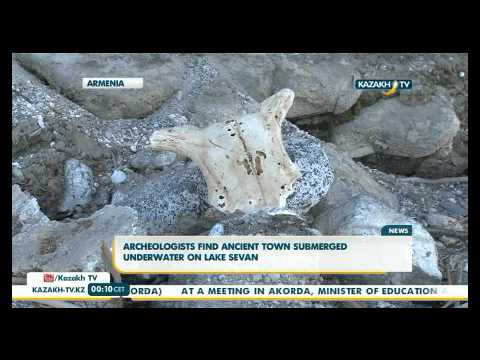 Archeologists find ancient town submerged underwater on Lake Sevan