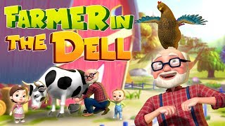 The Farmer In The Dell | Nursery Rhymes & Kids Songs | Videogyan 3D Rhymes | Baby Ronnie Cartoon