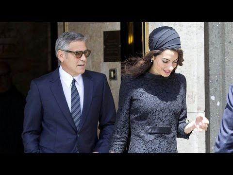 George and Amal Clooney Show Some Adorable PDA in Italy -- See the Pics!