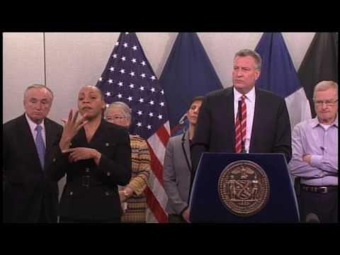 Mayor Bill de Blasio Updates New Yorkers on Winter Storm