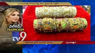 Ivanka Trump in Pochampally saree for Hyderabad visit? - TV9