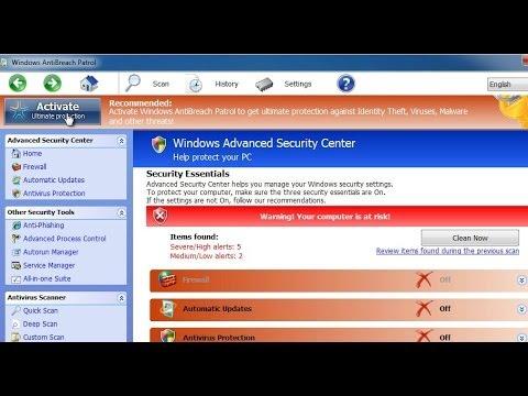 How to get rid of Windows Advanced Security Center virus (Windows AntiBreach Patrol removal)