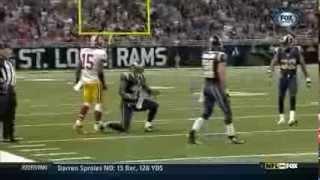 Josh Morgan throws ball at Cortland Finnegan- Rams v. Redskins - 9/16/2012