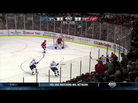 Jonathan Ericsson goal 1 Feb 2013 St. Louis Blues vs Detroit Red Wings NHL Hockey