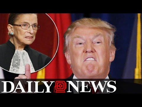 Donald Trump Attacks Supreme Court Justice Ruth Bader Ginsburg