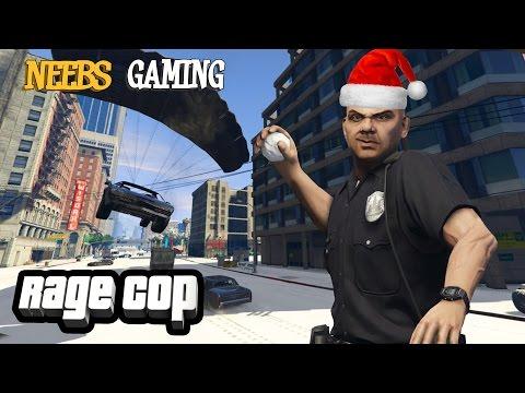 A RAGE COP CHRISTMAS (GTAV Gameplay)
