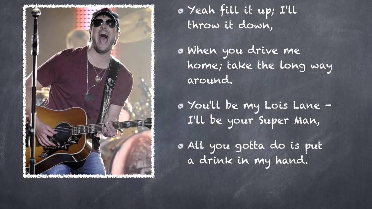 Eric church drink in my hand chief lyrics youtube