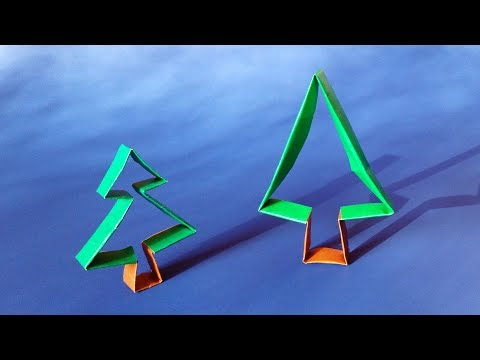Origami Christmas Tree Ornament - Paper DIY Christmas Decoration