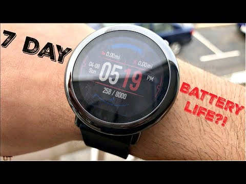 Best Battery Life On A Smart Watch? (Xiaomi Huami AMAZFIT Pace)