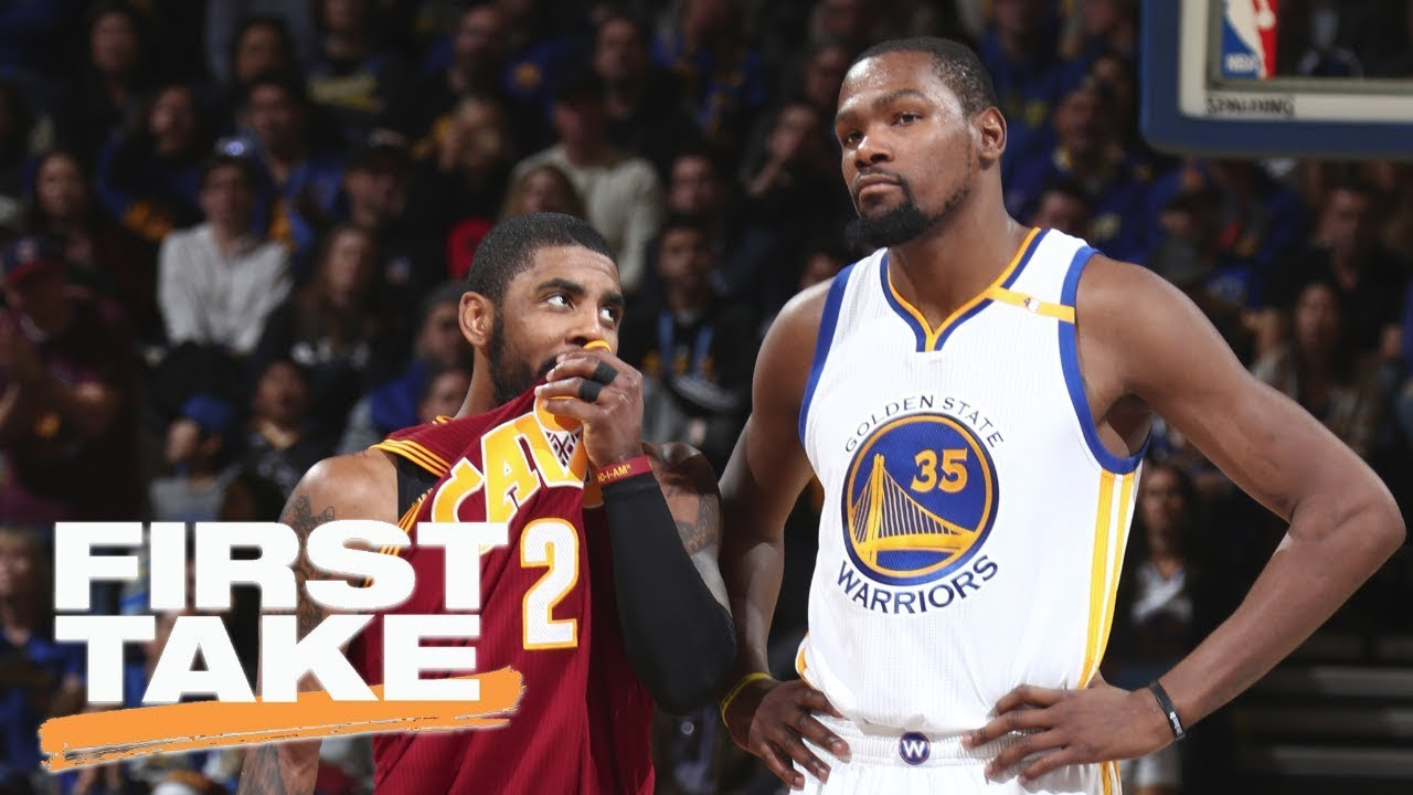 Kevin Durant comments on the Kyrie Irving trade and LeBron James | First Take | ESPN