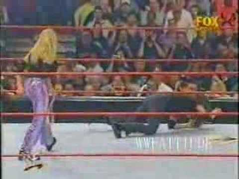 Trish Stratus vs Stephanie (Spanking Match)